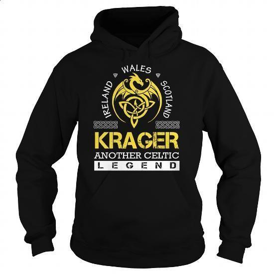 KRAGER Legend - KRAGER Last Name, Surname T-Shirt - #mens shirt #hoodie outfit
