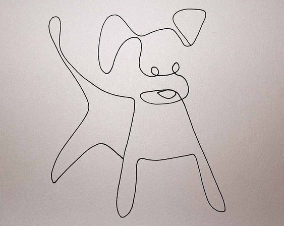 One line drawing dog by Elin Folkesson, via Flickr: