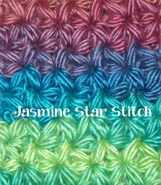 Crochet Jasmine Stitch Pattern : How to Crochet a Jasmine Star Stitch Part I Crochet Stitches ...