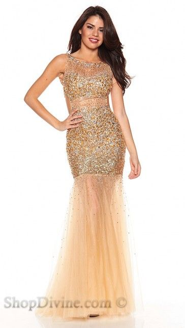 Jovani Gold and Nude Sequin Long Dress @ ShopDivine - ***RITZ AND ...