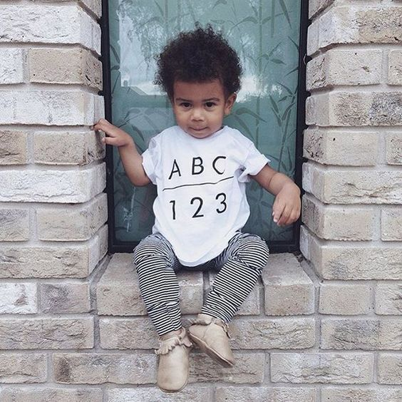 """Love this cutie in our ABC123 tee - perfect for going back to school  xo #youngoneapparel  @thetinyacorn"" Photo taken by @youngoneapparel on Instagram, pinned via the InstaPin iOS App! http://www.instapinapp.com (07/30/2015)"