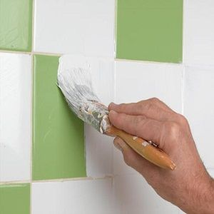 How to Paint Wall Tile #stepbystep my ugly basement bathroom with the 5 different tile colors they used?!