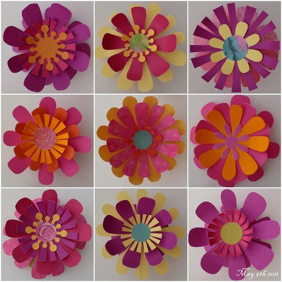 Paper flowers for cards!