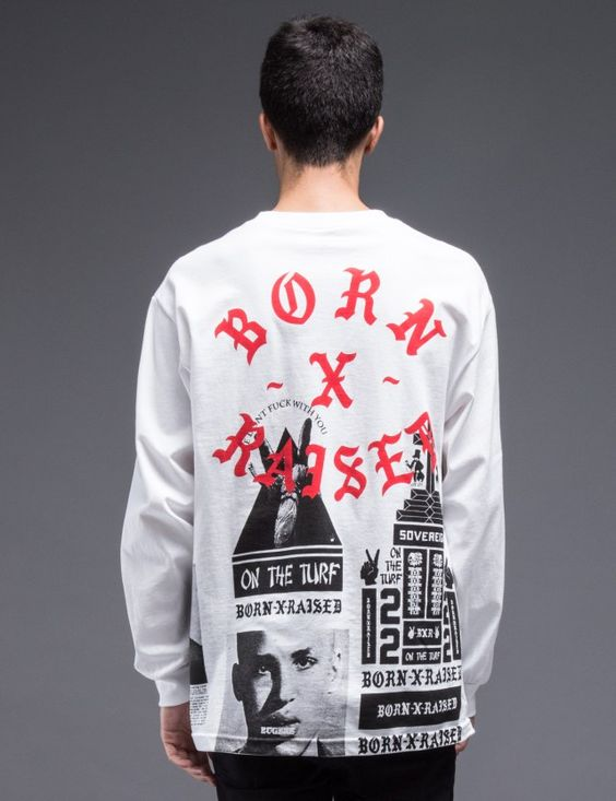 Born x Raised BWR All Over L/S T-Shirt