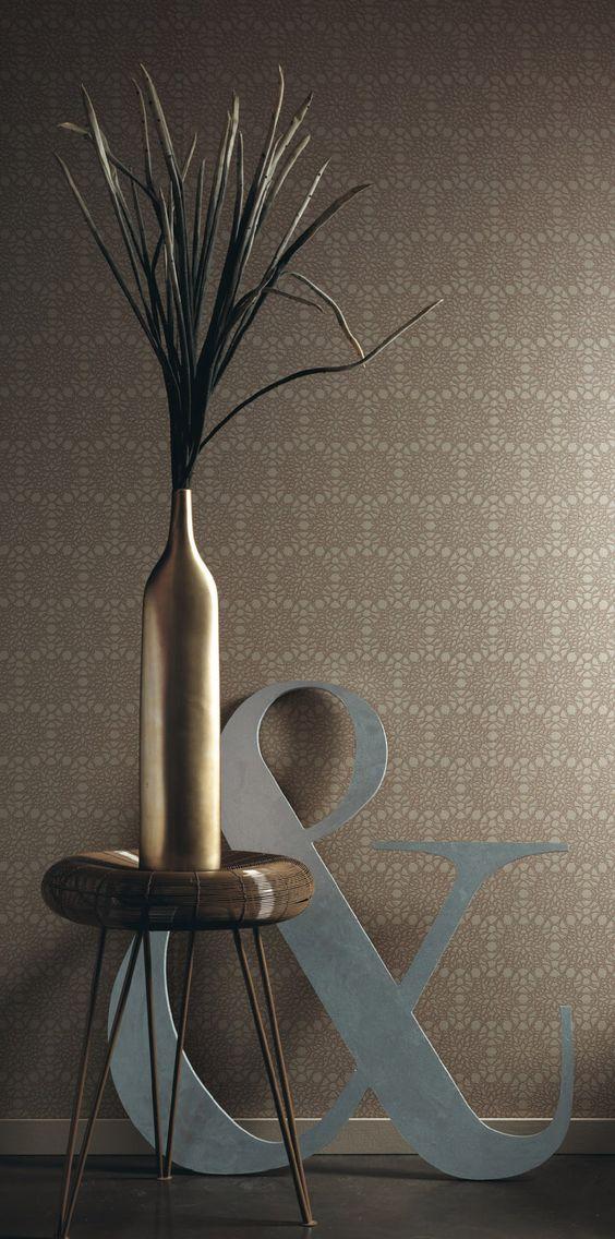 Earth Tones that calm the spirit. Tonos marrones para calmar el espíritu. Papel tapiz de Habitat Modernista. US$125.00 p/roll