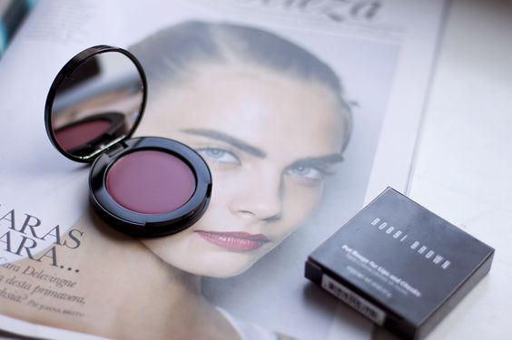 Pot Rouge from Bobbi Brown in Raspberry and Cara Delavingne