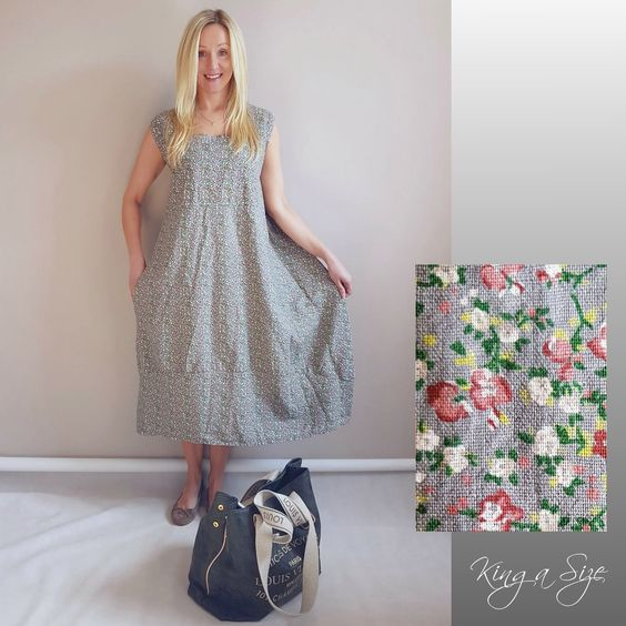 Italy Sommer Kleid Lagenlook Casual Dress Lose Outfits Leinen Gr 48 Sand Ebay