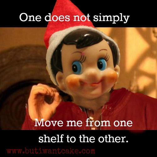 Elf on the shelf, Shelves and On the shelf on Pinterest