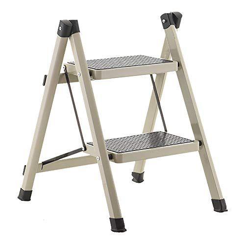 Lxf Step Stool Ladders Stools Heavy Duty Iron 2 Step Folding Herringbone Ladder Engineering Stepladder Portable Kitchen 150kg Portable Kitchen Step Stool Stool