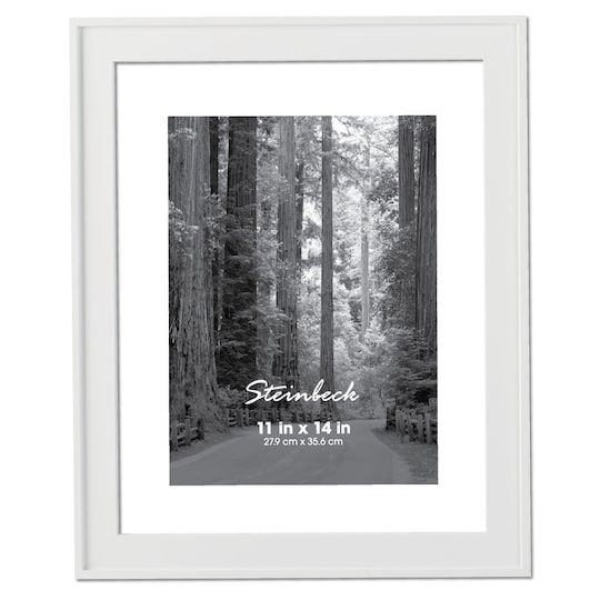 Thin White Steinbeck Frame By Aaron Brothers 11 X 14 Michaels Aaron Brothers Frame Frames On Wall