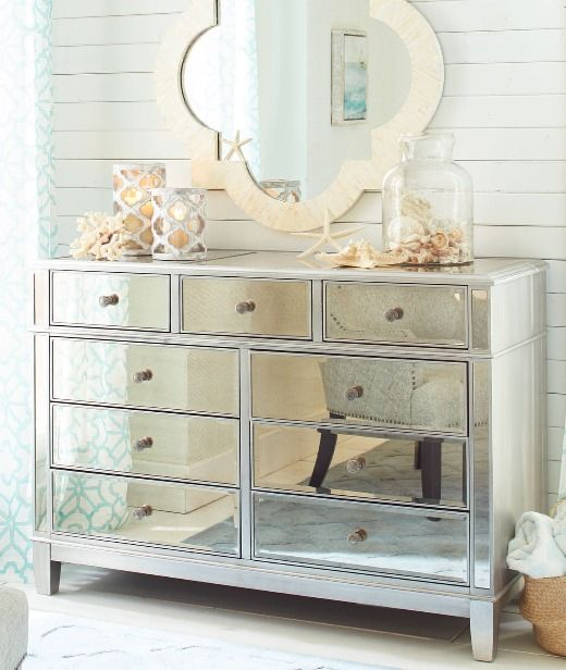 Bring Glamour Sparkle To Coastal Decor With Mirrored