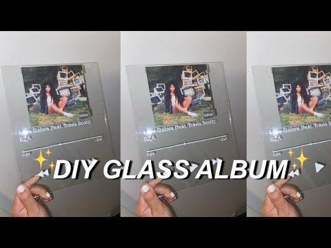 Diy Glass Album Cover Easy And Cheap Tiktok Youtube Diy Album Cover Wall Diy Glass Diy Picture Frames