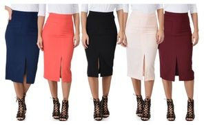 Groupon - Lyss Loo High Waist Pencil Skirt With Pockets. Groupon deal price: $9.99