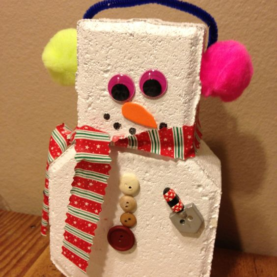 Cute! Its a door stopper! My daughter's class made these this week- painted a brick and added all the decorations to make into snow man!