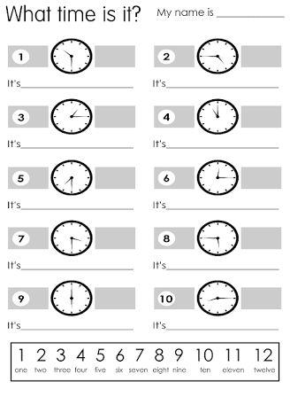 English worksheet: Time | kids | Pinterest | English, Vocabulary ...