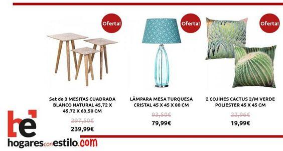 Las #ofertas del sábado en hogaresconestilo.com son.... #home #hogar #estilo #deco #decoración