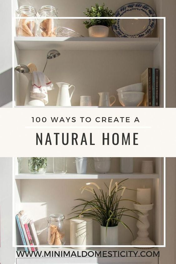 This is the ultimate guide to natural and eco friendly living at home! From natural cleaning products to zero waste lifestyle tips, here are 100 ideas to create a green home. #greenliving #naturalliving #zerowaste #greenhome