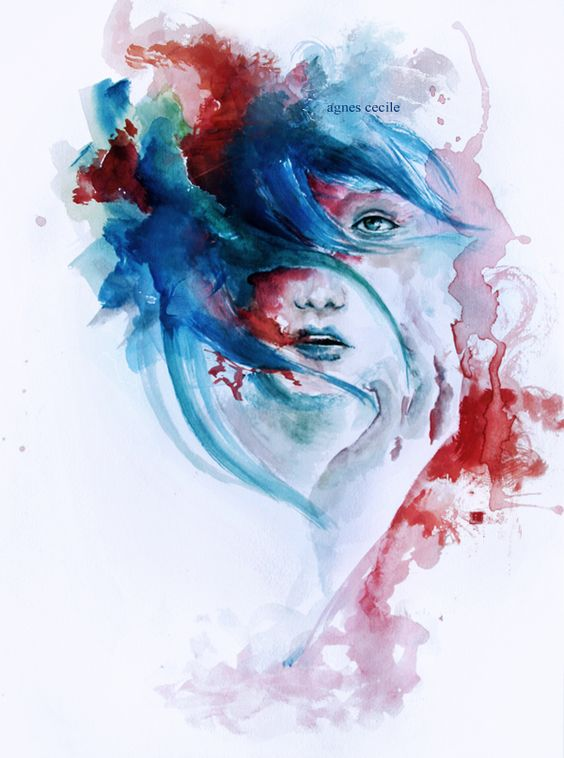 she collapsed  by agnes-cecile: