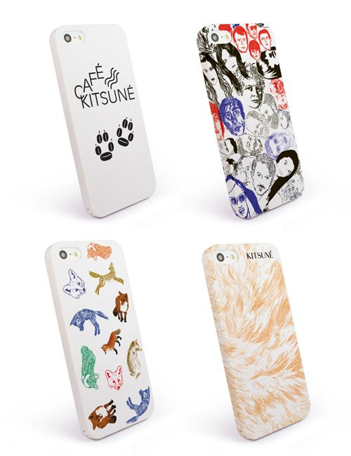 Maison Kitsuné iPhone covers.