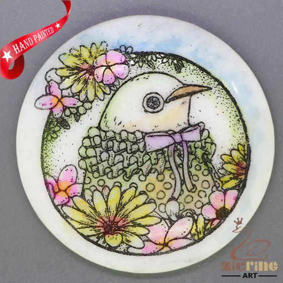 CHARMING FRIDGE MAGNET BIRD WALL DECOR DIY WHITE STONE ZR3000293 #ZL #FridgeMagnet