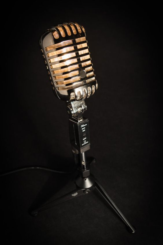 Lampe de Microphone rétro