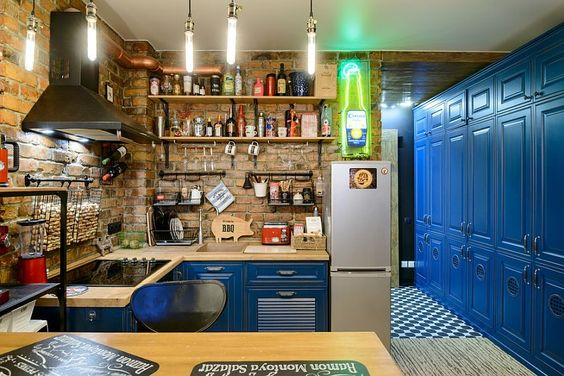 Delightful and crazy eclectic kitchen of tiny loft is a showstopper! [From: HappyHouse Architecture&Design]