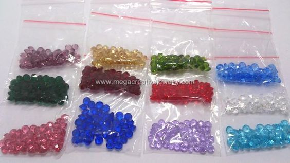 crystal floating locket charms birthstone Mix 12 color 4mm round glass 600 PCS/lot fits lockets $13.78