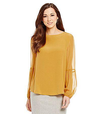 Antonio Melani Catalie Long Sleeve Silk Blouse #Dillards
