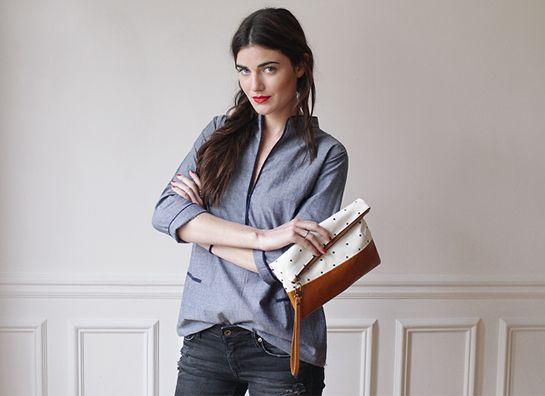 blouse chambray