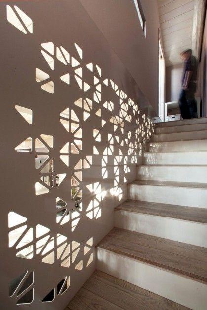 Geometric Stairs Geometric Staircase Melbourne: Elegant Black And White Interior Design : Geometric Holes