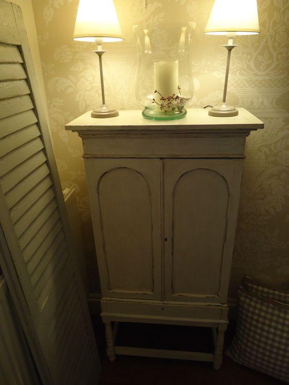 Chicinteriorsoflondon.co.uk vintage distressed oldey worldey cupboard transformed from dark wood.