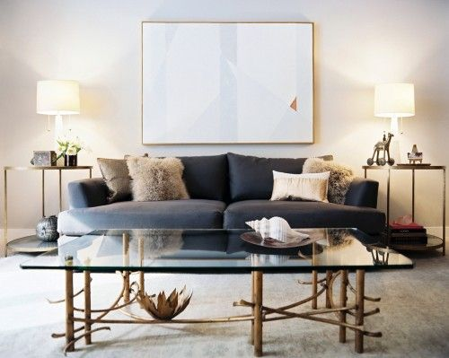 Scout Designs: Glass Coffee Tables, Design Living Rooms, Living Spaces, Blue Sofas, Living Room Designs, End Tables, Scout Designs, Inspirational Livingrooms