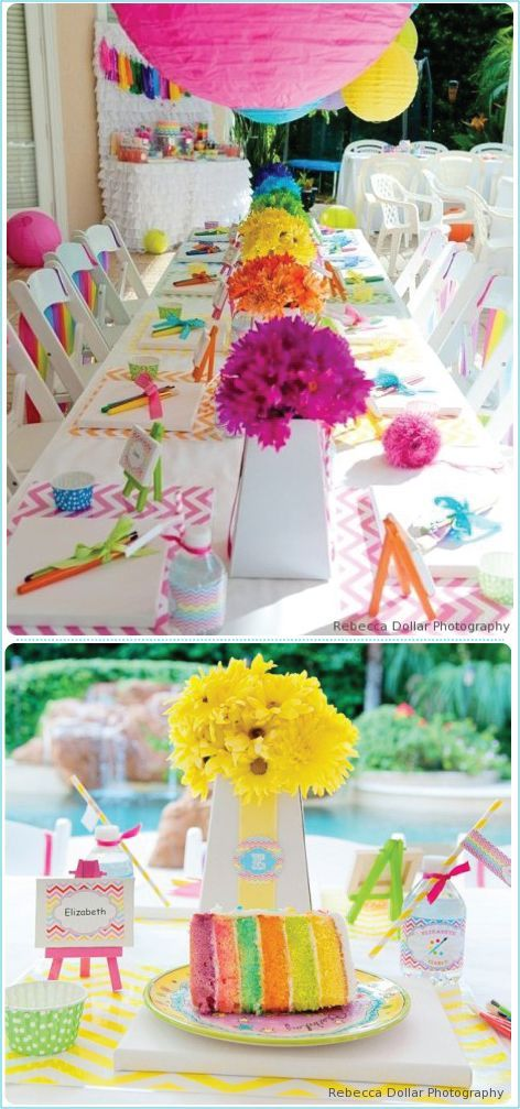 Kids Birthday Parties | Ideas in blume Love the water bottles with the straws…