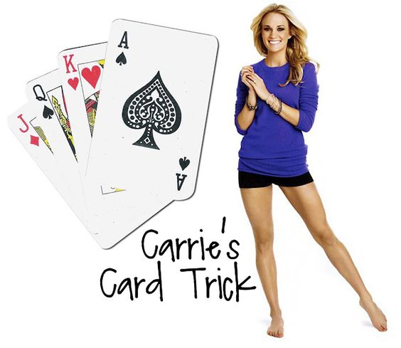 Carrie Underwood's Card Trick for exercise... Would also be fun idea for brain breaks in the classroom :)