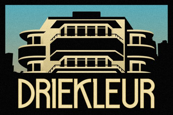 Driekleur Typeface by Absolut Foundry on Creative Market