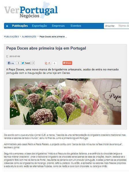 PePa Doces na VER NEGOCIOS PORTUGAL