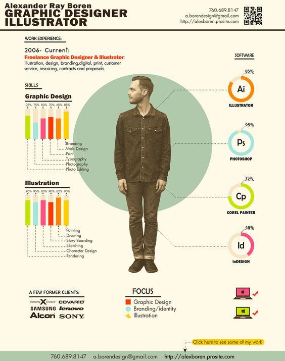 Resume Designer Best Infographic Resumes  Infographic Resume Infographic And