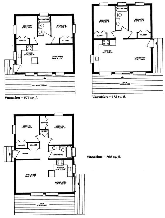 Small Cabin Floor Plans Guest Cottage Pinterest One