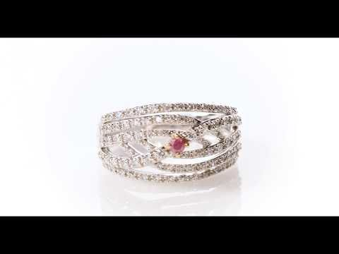 Argyle Pink And White Diamond Ring Cradled In A Traditional Claw