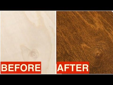 Staining Birch Plywood Quick Tip Youtube Staining Plywood Birch Plywood Staining Cabinets