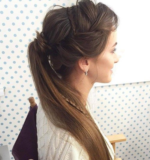 Creative Ponytail With Braids