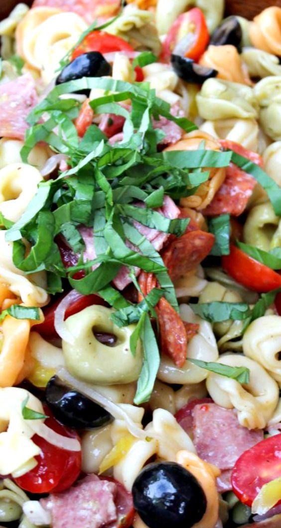 Tortellini Pasta Salad | Recipe | Healthy recipes, Greek ...