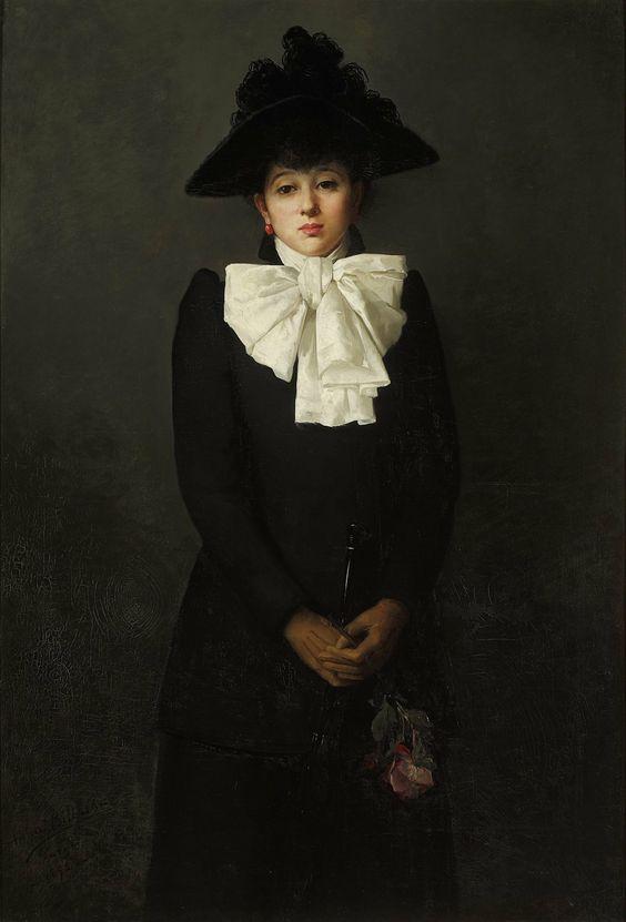 Anna Bilińska-Bohdanowiczowa (1857-1893) —  Portret Młodej Kobiety z Różą, 1892  (1389×2048)