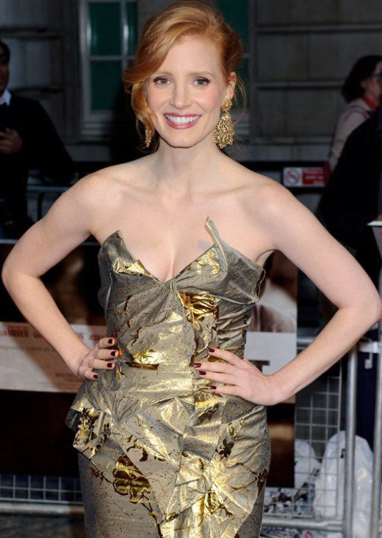 Jessica Chastain, London premiere of The Debt