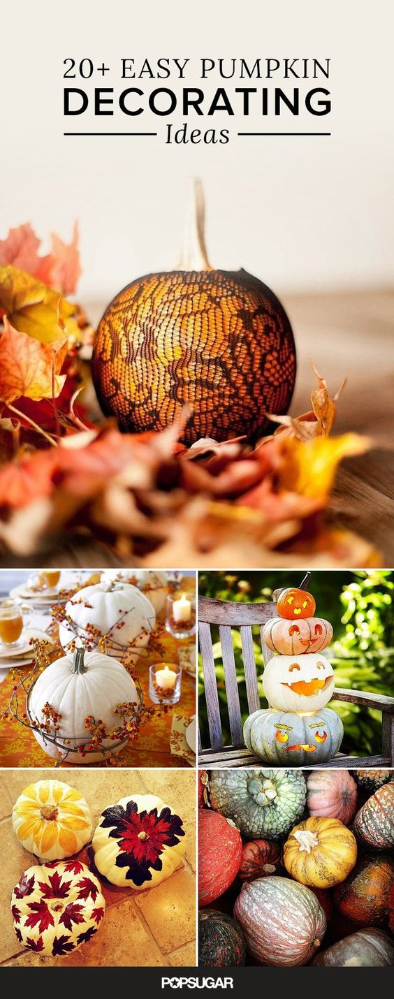 21 Pumpkin-Decorating Ideas That Are Actually Doable!: