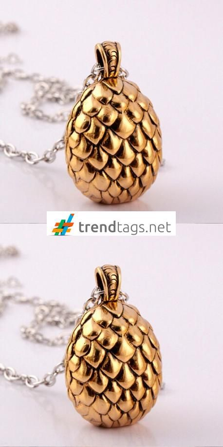 Game of Thrones - Golden Eggs - Necklace - FREE WorldWide Shipping on { trendtags.net }   #JuegoDeTronos #Lannister #JonSnow #WinterIsComing #JDT