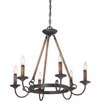 View the Quoizel BDR5006 Bandelier 6 Light 1 Tier Candle Style Chandelier at LightingDirect.com.
