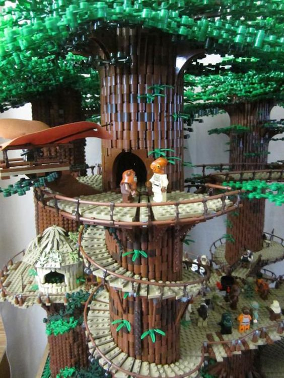 This 3-Foot Tall Lego 'Star Wars' Ewok Village Is Most Impressive