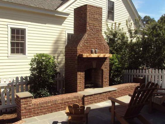 Brick Outdoor Fireplace in Birmingham