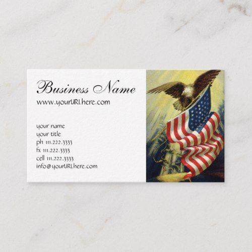 Vintage Patriotism Patriotic Eagle American Flag Business Card Zazzle Com Vintage Business Cards Template Vintage Business Card Design Business Card Template Design